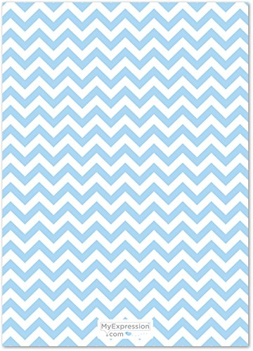 24 Chevron Elephant Baby Shower What's In Your Purse Game Cards (Blue) by MyExpression.com (Image #1)