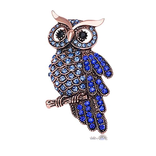 [Sewanz Men's Luxury Diamantes Owl Shape Brooch Pins,Lapel Stick Pin for Suit Tuxedo] (Mens Owl Costumes)