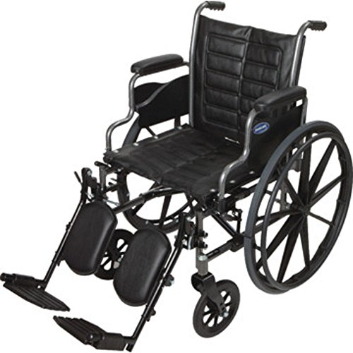 """Invacare - Tracer EX2 - Manual Wheelchair - Removable Desk-Length Armrest with Elevating Legrest - 18"""" x 16"""" Seat"""