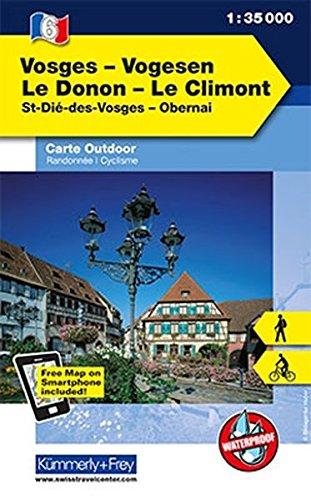 K&F Elsass / Vogesen Outdoorkarte 06 Vogesen - Le Donon - Le Climont 1 : 35 000 (Kümmerly+Frey Outdoorkarten Frankreich)