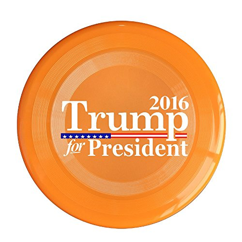 SYYFB Unisex Trump For President 2016 Flag Mixed Outdoor Game Frisbee Light Up Flying Orange (Barbie Psp Games)