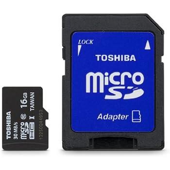 Toshiba Micro 16GB Secure Digital Micro SD Class 10 UHS-I Memory Card (PFM016U-1DCK)