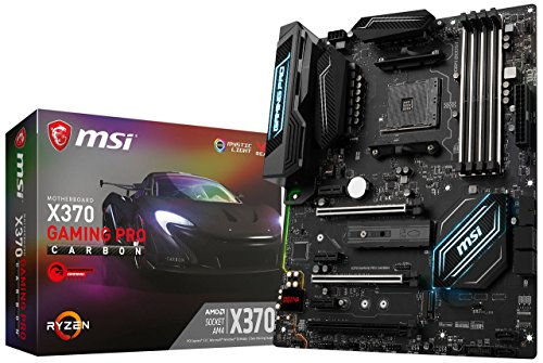 MSI Gaming AMD Ryzen X370 DDR4 VR Ready HDMI USB 3 SLI CFX ATX Motherboard (X370 GAMING PRO CARBON) (Renewed)