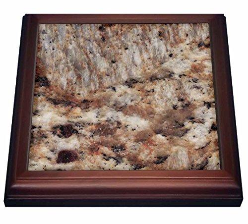 3dRose trv_97963_1 Santa Cecilia granite print Trivet with Ceramic Tile, 8