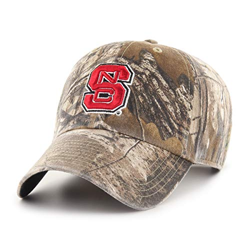 NCAA North Carolina State Wolfpack OTS Challenger Adjustable Hat, Realtree Camo, One Size