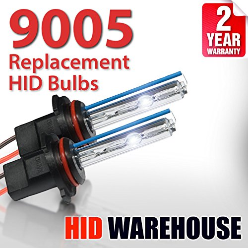 Xenon Replacement Bulbs - 9005 4300K - Bright Daylight (1 Pair) - 2 Year Warranty ()