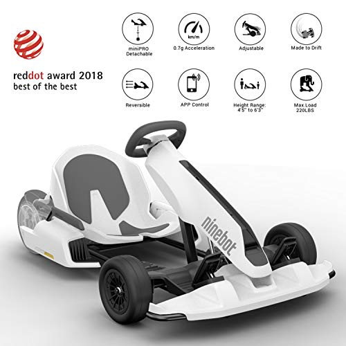 (Segway Ninebot Electric GoKart Kit - Convert miniPRO into Go-Kart Drifting Cart Drift Board Transformer (scooter sold separately))