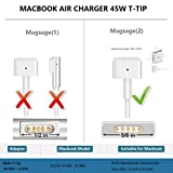 Missaka Macbook Air Charger, 45W T-Tip Power Adapter Ac Charger for Macbook Air 11 inch and 13-inch