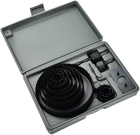 Lochs/ägen Set 16-Teiliger Lochs/ägesatz Geh/ärteter Kohlenstoffstahl ideal f/ür Bohren auf Weiches Holz mit 2 Zentrierbohrer /ø 19-127mm