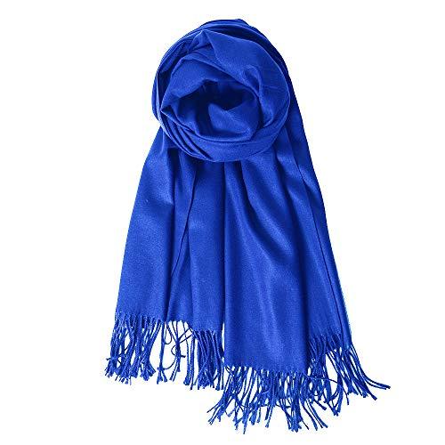 - QBSM Womens Royal Blue Large Soft Pashmina Scarfs Evening Dresses Shawls Wraps