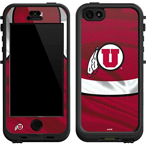 Skinit Utah Utes LifeProof Nuud iPhone 5/5s/SE Skin for CASE - Officially Licensed College Skin for Popular Cases Decal - Ultra Thin, Lightweight Vinyl Decal Protection (Nuud Iphone 5 Case)