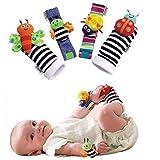 4 x Baby Infant Soft Toy Wrist Rattles Hands Foots finders Developmental LAMAZE