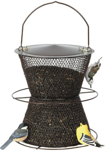 Perky-Pet Bronze Hourglass Bird Feeder (Bronze Feeder No Bird Mesh)
