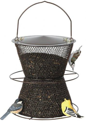 Perky-Pet Bronze Hourglass Bird Feeder (No Mesh Bird Feeder Bronze)