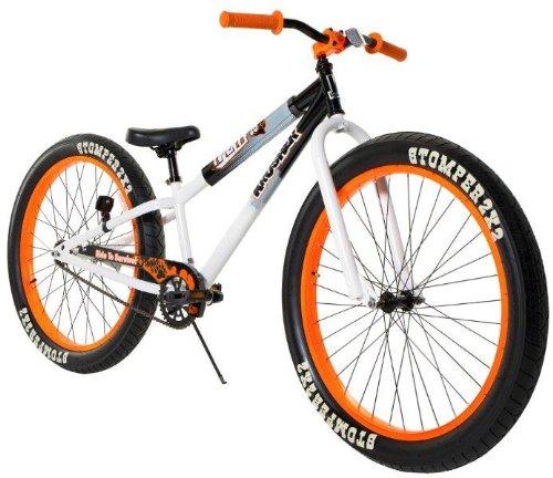 Dynacraft Boy's Krusher Bike, Black/White/Orange, 26-Inch