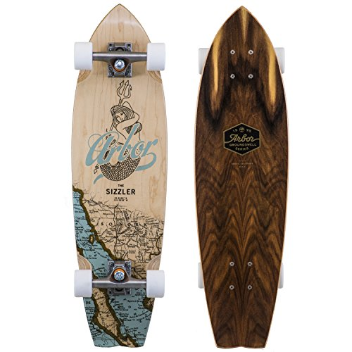 (Fireball Arbor x Supply Co. Longboard Skateboards (Various Models) (Sizzler - Groundswell (31