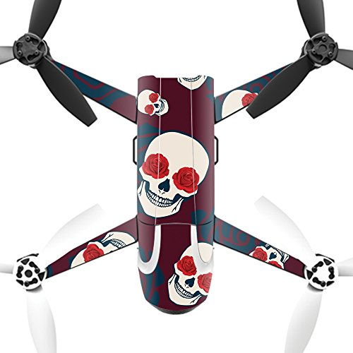 MightySkins Protective Vinyl Skin Decal for Parrot Bebop 2 Quadcopter Drone wrap Cover Sticker Skins Skulls N Roses
