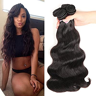 Colorful Queen Brazilian Virgin Hair Body Wave Remy Human Hair Bundles Weaves 7A Unprocessed Hair Extensions Natural Color
