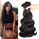 Colorful Queen 8A Brazilian Virgin Hair Body Wave Remy Human Hair 3 Bundles Weaves 100% Unprocessed Hair Extensions Natural Color 14 16 18Inch