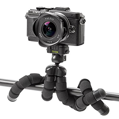 Smartphone Flexible Tripod iKross Compact Tripod Stand Mount Holder with Adapters For Smartphone, iPhone/Digital Camera/GoPro Hero All Version by iKross (Image #2)
