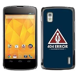 PC/Aluminum Funda Carcasa protectora para LG Google Nexus 4 E960 Girlfriend Relationship Sign Quote Art Symbol / JUSTGO PHONE PROTECTOR