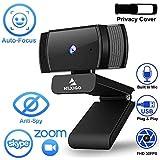 2020 AutoFocus 1080p Streaming Webcam with Stereo Microphone and Privacy Cover, NexiGo FHD USB Web Camera, for Online…