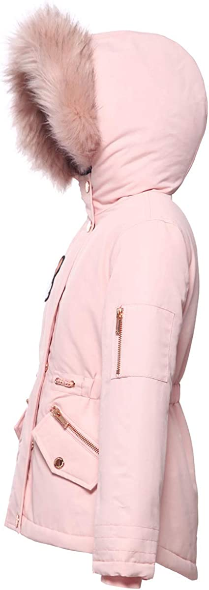 Rokka/&Rolla Girls Water-Resistant Hooded Heavy Padded Winter Coat Lined Thickened Insulated Parka Anorak Puffer Jacket