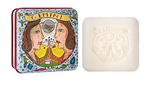 Price comparison product image Pre De Provence Zodiac Tin Bar Soap, Gemini, 100 Gram