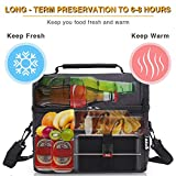 PuTwo Lunch Bag, 8L Insulated Lunch Bag Lunch Cooler Bag Lunch Tote Lunch Pail with YKK Zip and Adjustable Shoulder Strap