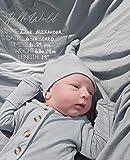 LUGUNU Clear Acrylic Baby Sign, Hello World Newborn