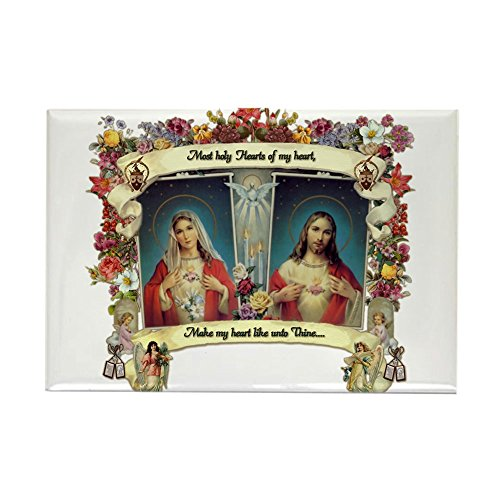 Dress Up Jesus - CafePress Sacred And Immaculate Hearts Magnets Rectangle Magnet, 2