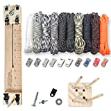 "Paracord Planet 550 lb Type III Paracord Combo Crafting Kit with a 10"" Pocket Pro Jig – Additional Monkey Fist Jig Option"