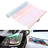 WINOMO Headlight Protective Auto Taillight Fog Light Color Changing Film Tint Vinyl Wrap 47x11.8 inch