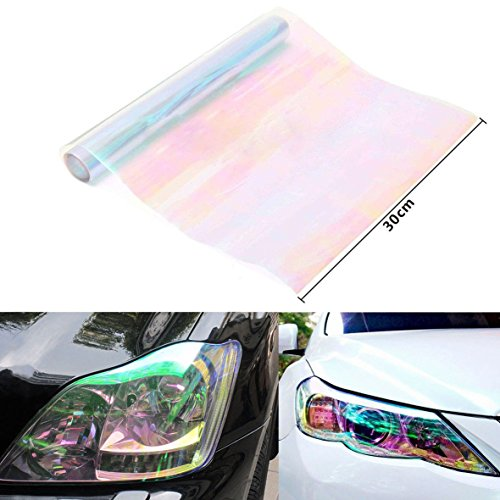 WINOMO Headlight Protective Auto Taillight Fog light Color Changing Film Tint Vinyl Wrap 47×11.8 inch