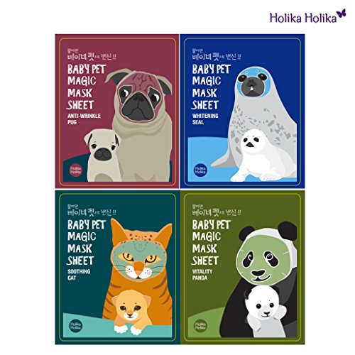 [Holika Holika] Baby Pet Magic Mask Sheet 22ml (1 Sheet) - 4 Type (4 Set)
