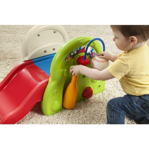 Step 2 Sports-Tastic Activity Center for Toddlers, Durable Outdoor Slide and Climber with Ball Game Accessories, Multicolor by Step2 (Image #4)