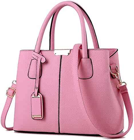 b42e5b0d27b3 Shopping Faux Leather - Pinks - Shoulder Bags - Handbags & Wallets ...
