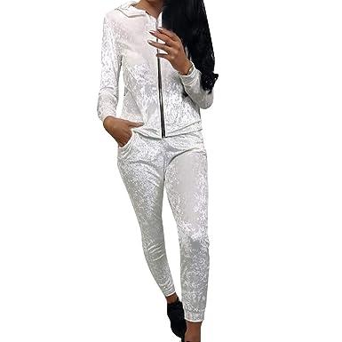 ZEZKT Vêtements de Sport - Femme Ensembles Sportswear Sweats à Capuche  Pantalon Jogging Survêtement 2pcs Sportwear 58530dbc91d