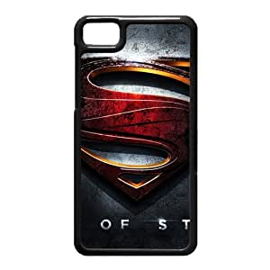 Black Berry Z10 Case,Man Of Steel High Definition Wonderful Design Cover With Hign Quality Hard Plastic Protection Case
