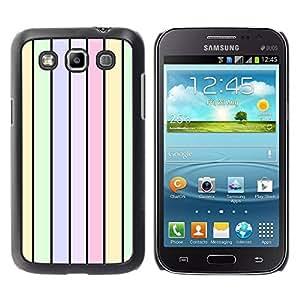 Paccase / SLIM PC / Aliminium Casa Carcasa Funda Case Cover para - Stripes Colors Pastel Light Green - Samsung Galaxy Win I8550 I8552 Grand Quattro