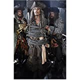Johnny Depp 8 Inch x 10 Inch Photo Edward Scissorhands Sweeney Todd Alice in Wonderland Getting Tied to Mast of Ship kn