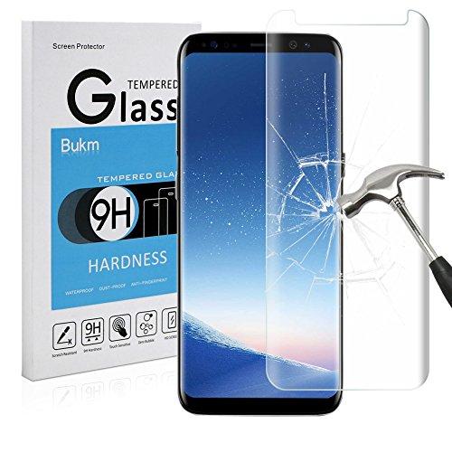 Galaxy S8 Plus Schutzfolie Panzerglas, Bukm Samsung Galaxy S8 Plus Panzerglas Glas Displayschutzfolie Schutzglas Displayschutz Screen Protector für Galaxy S8 Plus [0.25mm 2.5D 9H Härtegrad]