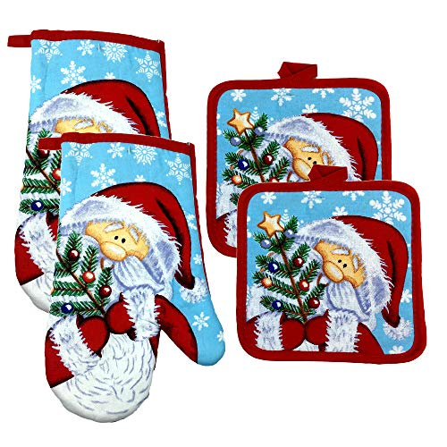 Christmas Mitts Holders Santa Claus