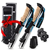 Collapsible Hiking & Trekking Poles, 2 Extremely Lightweight Foldable Walking Sticks, With Unique