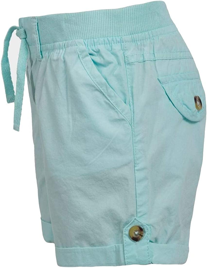 Minoti Girls Turn-Up Cuff Woven Shorts