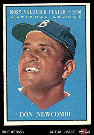 Amazoncom 1961 Topps 483 Most Valuable Player Don Newcombe Los