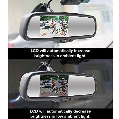 Master Tailgaters MR-43-E2DVR1 4.3'' LCD Rear View Mirror with 1080P 30fps HD DVR Dual Way Video Recorder with Wifi by Master Tailgaters (Image #6)