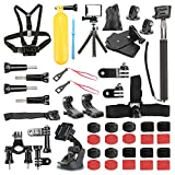 Basic Pro - Outdoor Sports Accessories Starter Kit for Hero 5/Session/4/3/2/HD Original Black Silver Cameras