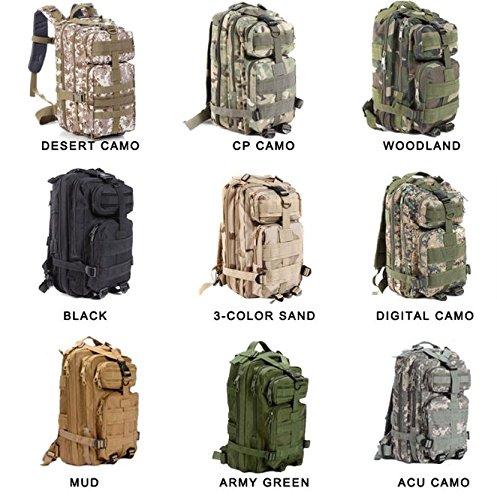 30lハイキングキャンピングバッグArmy Military Tacticalトレッキングリュックサックバックパックフルカラー B072FP8LJ6  CP