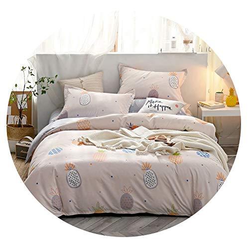 Tropical Leaf Plaids Geometric 4pcs Bed Cover Set Cartoon Duvet Cover Bed Sheets and Pillowcases Comforter Bedding Set 61001,2TJ-61001-002,240x220cm 4pcs (Best Sims 2 Cheats)